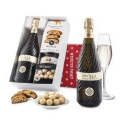 """Pudełko świąteczne """"Owocowa przyjemność"""" z winem Bisol Invilla Prosecco DOC"""