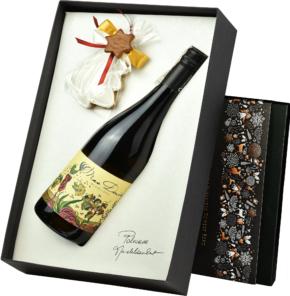 Capcanes Mas Donis w eleganckim pudełku ze świątecznym akcentem