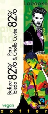 Zotter Labooko czekolada Contest 82% Toledo Belize/Criollo Cuvee (70 g)
