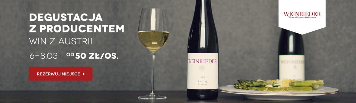 Degustacja win z udziałem producenta Weinrieder