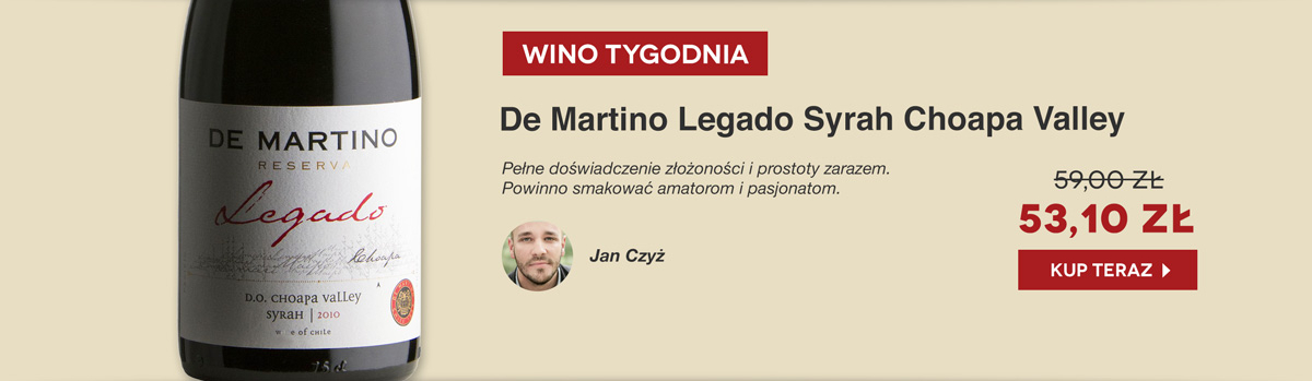 De Martino Legado Syrah - promocja