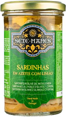 Sardynki Sete Mares w oliwie z oliwek z cytryną (250 g)