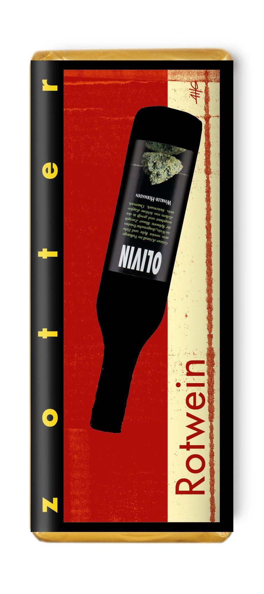 Czekolada nadziewana zotter red wine olivin