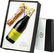 Pudełko prezentowe czarne z winem La Bastide Viognier d'Hauterive VdP