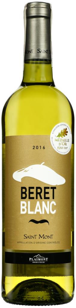 Wino Plaimont Beret Blanc Saint-Mont AOC 2017