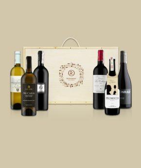 Skrzynka z winami na prezent
