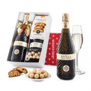 """Pudełko świąteczne """"Owocowa radość"""" z winem Bisol Invilla Prosecco DOC"""