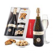 """Pudełko prezentowe""""Owocowa radość"""" z winem Bisol Invilla Prosecco DOC"""