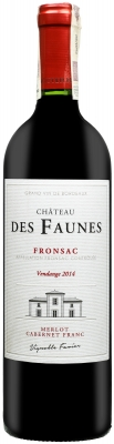 Wino Château des Faunes Fronsac AOC 2014