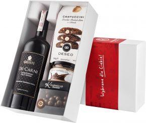 """Pudełko prezentowe """"Kremowa wariacja"""" z winem Giusti Chardonnay"""