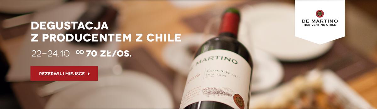 De Martino - degustacje win z Chile w 3 miastach