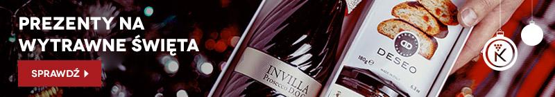 Prezenty z winem na wytrawne na Święta