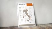 Włochy - plakat z mapą regionów winiarskich