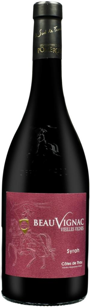 Wino Costieres de Pomérols Beauvignac Vieilles Vignes Syrah Côtes de Thau IGP 2019