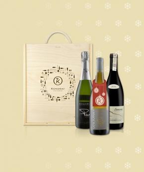 Wina z Doliny Loary w skrzynce ze świąteczną zawieszką