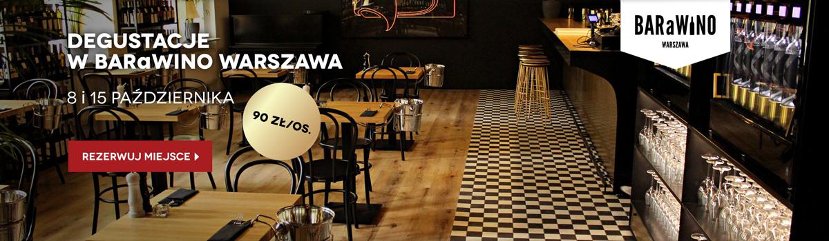 Degustacje win polskich i beczkowych w BARaWINO Warszawa