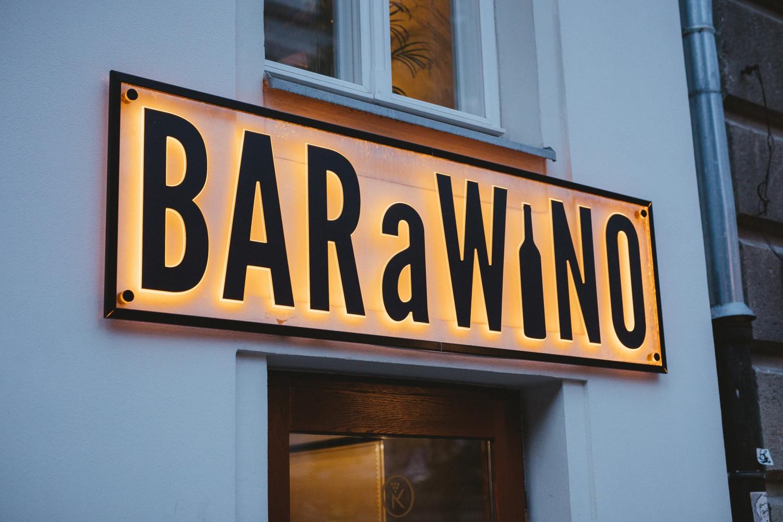 Otwarcie BARaWINO Warszawa - szyld BARaWINO