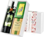 """Pudełko świąteczne """"Czekoladowa przyjemność"""" z winem Cibolo"""