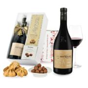 """Pudełko świąteczne """"Kruche szaleństwo"""" z winem Beauvignac Vieilles Vignes Merlot"""