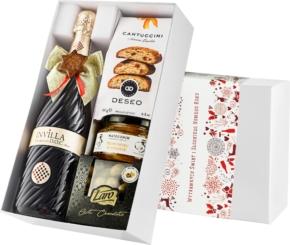 """Pudełko świąteczne """"Owocowa pasja"""" z winem Bisol Invilla Prosecco DOC"""