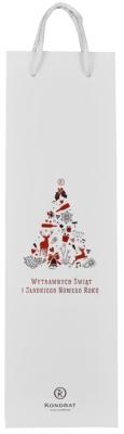 Torebka papierowa biała ze świąteczną grafiką
