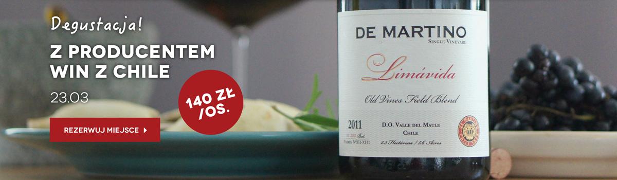Degustacja win z Chile połączona z kolacją