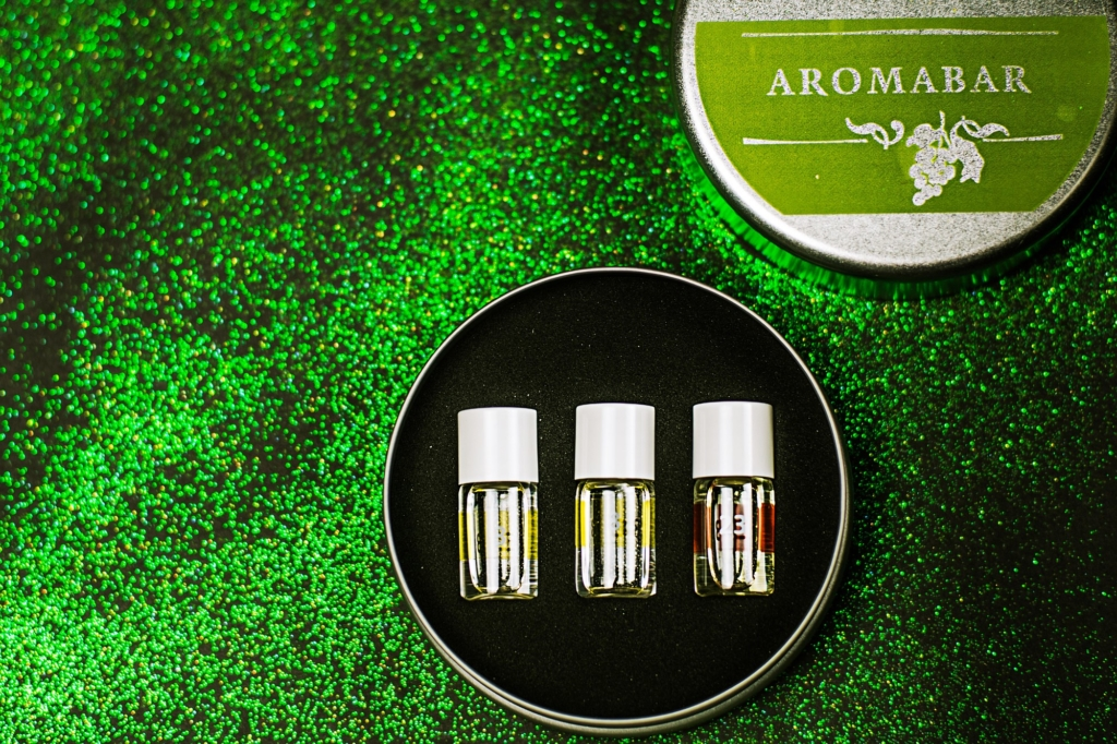 Fiolki z zapachami aromabar