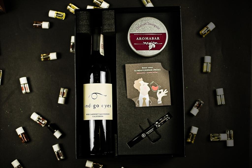 Zestaw prezentowy aromabar i wino cabernet sauvignon