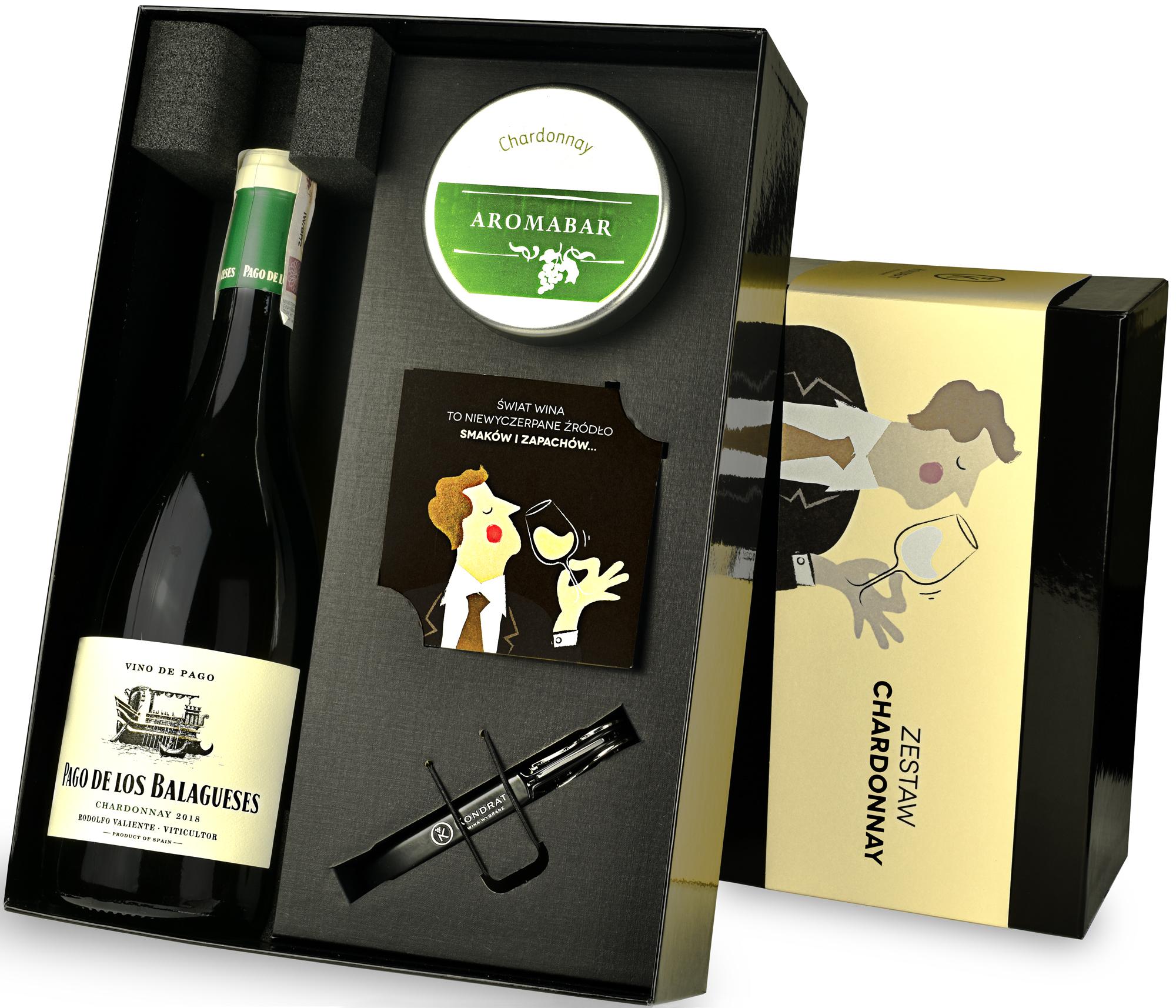Zestaw Aromabar Chardonnay z winem Vegalfaro
