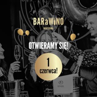 Odmrażamy BARaWINO Warszawa! Ponowne otwarcie 1 czerwca