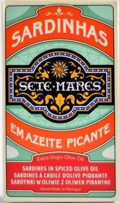 Sete Mares sardynki w oliwie extra virgin pikantne (120 g)