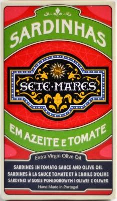 Sete Mares sardynki w oliwie extra virgin w pomidorach (120 g)