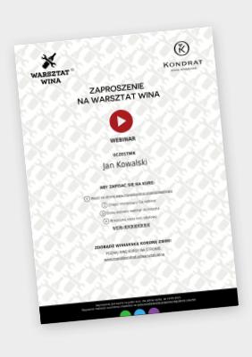 Voucher na Warsztat Wina: Webinar