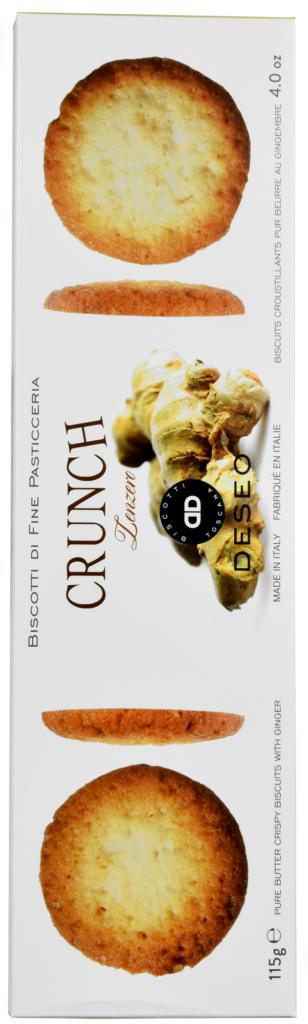 Ciasteczka Deseo biscotti crunch imbirowe (115 g)