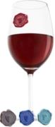 Vacu Vin znaczki na szklanki i kieliszki klasyczne winogrona (8szt)