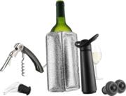 Vacu Vin zestaw do wina niezbędnik czarny