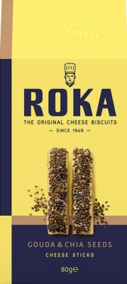 Biszkopty serowe ROKA paluszki Gouda z nasionami chia (80 g)