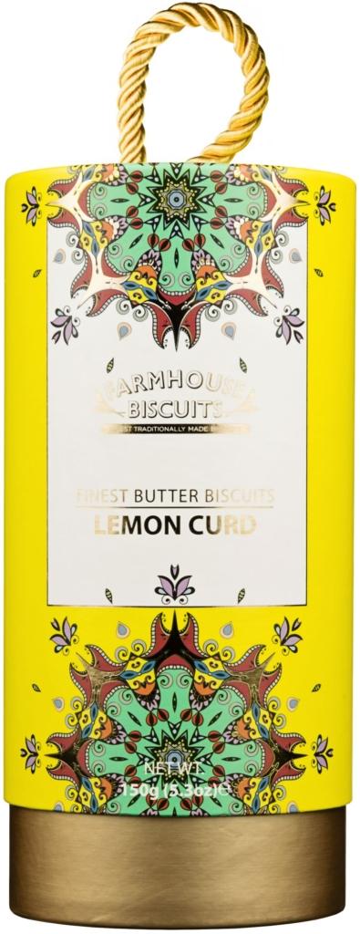 Ciasteczka Farmhouse Kensington Gift Tube Lemon Curd Biscuits (150 g)