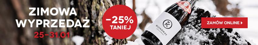 Zimowa wyprzedaż win -25%