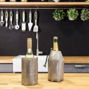 Vacu Vin Aktywny schładzacz do wina musującego platyna