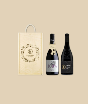 Wina z Doliny Rodanu w skrzynce