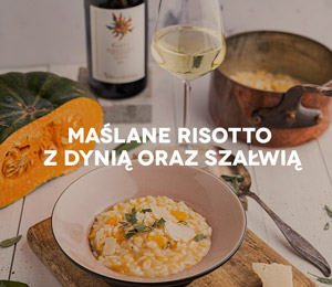 Przepis na jesień: Maślane risotto zdynią oraz szałwią